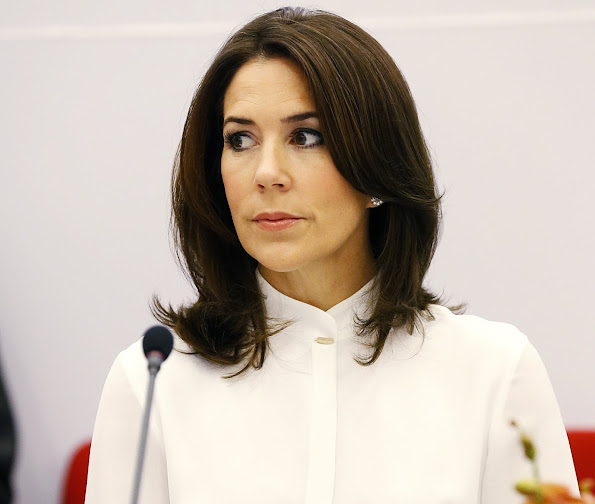 Crown Princess Mary wore Hugo Boss dress, skirt tops, Style of Mary, Gianvito Rosi shoes, J. Crew clothes