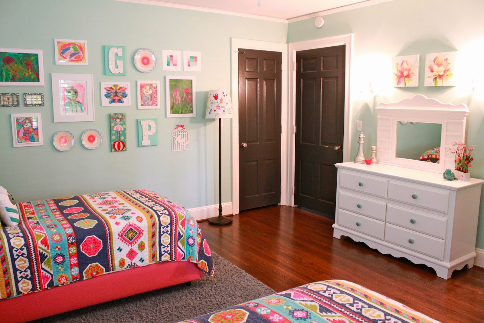 Home transformation the girls 39 room update sourjones for 4 yr old bedroom ideas