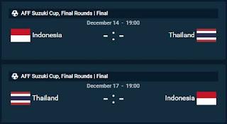 Jam Tayang Indonesia Vs Thailand Final Piala AFF 2016