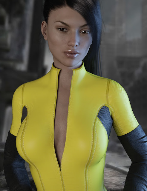 X-Fashion Kitty Girl Outfit for Genesis 3 Female