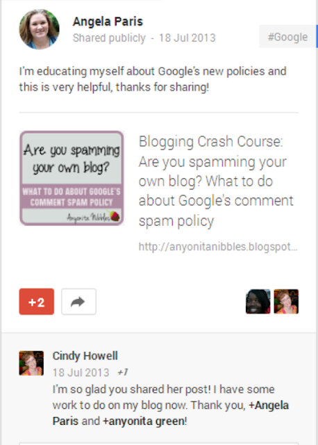 Comments shared publicly from other readers G+ also provide traffic to your blog from www.anyonita-nibbles.com