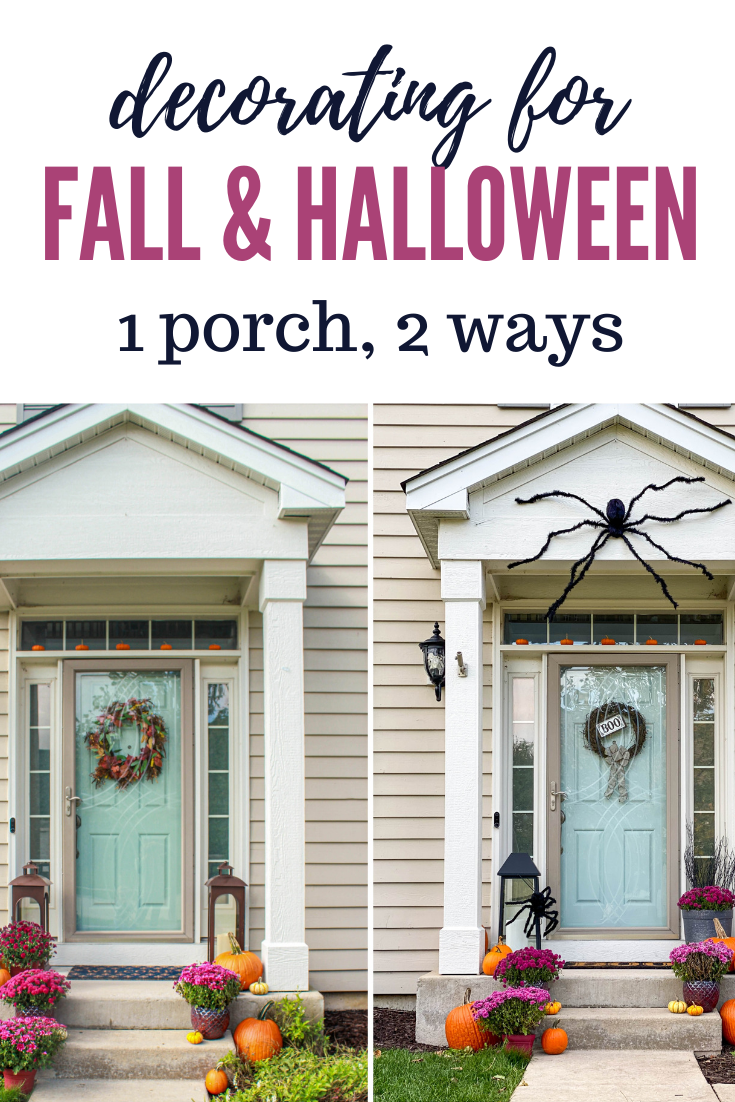 decorating porch for fall and halloween
