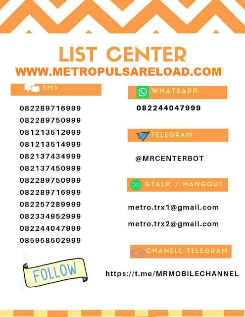 Center Transaksi Metro Reload