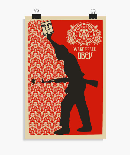 poster, posters, paz, reivindicativo, obey