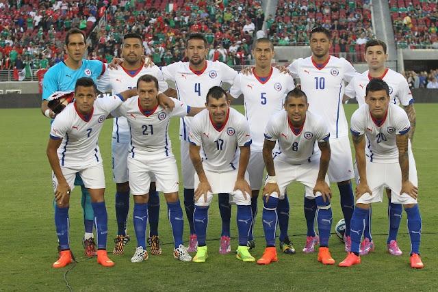 Formación de Chile ante México, amistoso disputado el 6 de septiembre de 2014