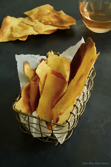 socca niçoise , chips apéro , farine de pois chiches , IG bas , gluten free