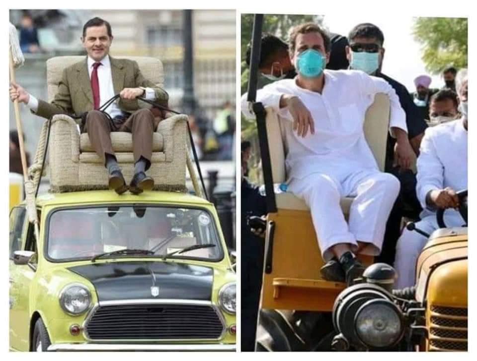 Rahul gandhi Trolled As Mr.Bean on Twitter