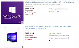acquistare licenza windows 10