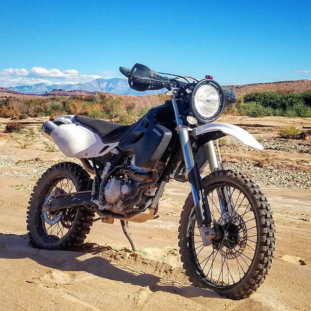 Custom KLX250/351 Desert Sled 'Katsumi' by MrDuhfactor - Image EveRide