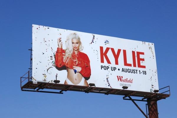 Kylie Jenner LA pop up billboard