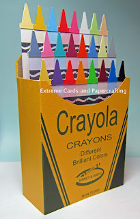 twenty four pack crayons birthday card pop up card