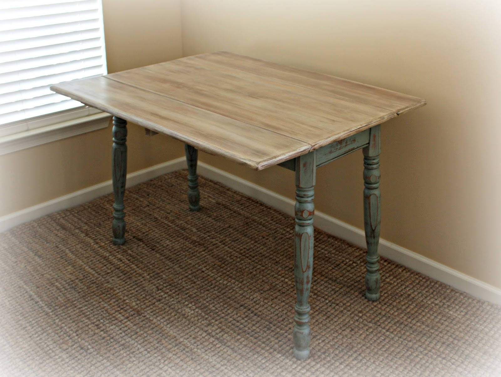 Extra surface space with the table leaves extended.
