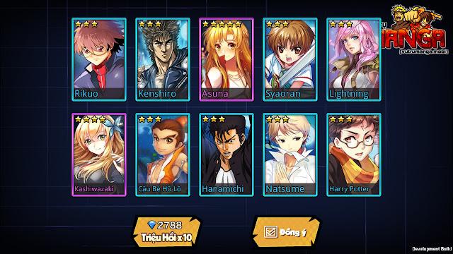 Vũ Trụ Manga: Game có nhân vật truyện tranh anime, manga, comic nổi tiếng 4