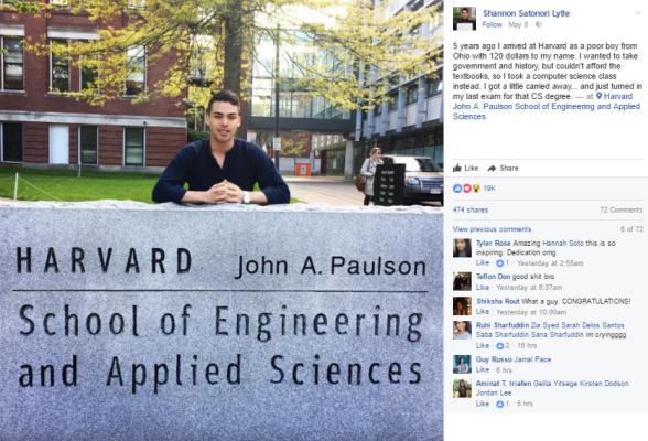 c - Harvard University Computer Science graduate shares his inspiring & emotional success story