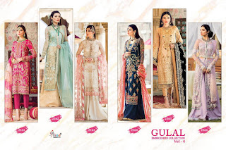 Shree Fab Gulal Embroidered Collection Vol 4 Pakistani Suits Collection, Pakistani Suits Manufaturer Shree Fab Gulal Embroidered Collection Vol 4 Pakistani Suits Buy At Wholesale Price