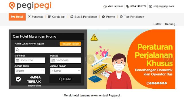 Situs Booking Hotel Online Pegi-Pegi