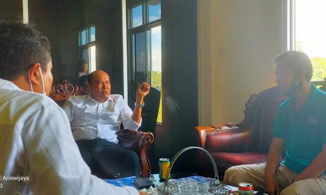Audiensi SMSI Silampari-Waka DPRD Mura, Ajak Insan Pers Tetap Profesional