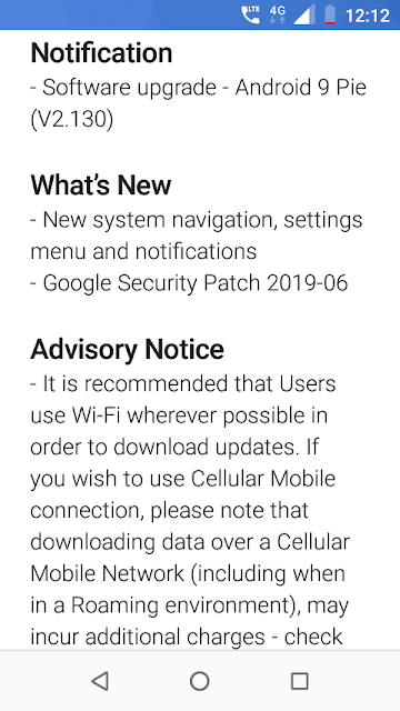 Nokia 1 receiving June 2019 Android Security update