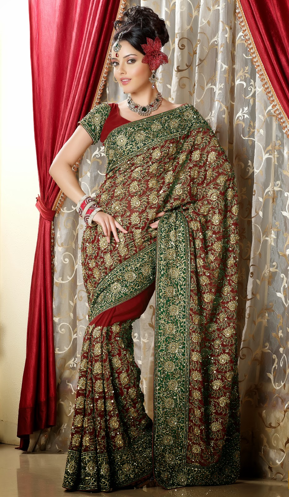 Indian Desi Females In Saree Full Hd  Photo Chocolate-8779