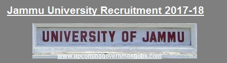 jobs in jammu university,jammu university recruitment