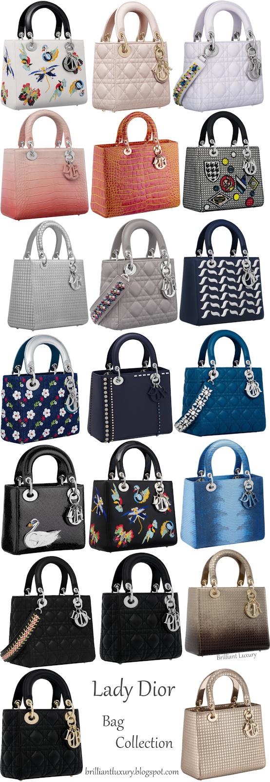 Lady Dior Bag Collection #brilliantluxury