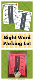 FREEBIE! Sight Word Parking Lot
