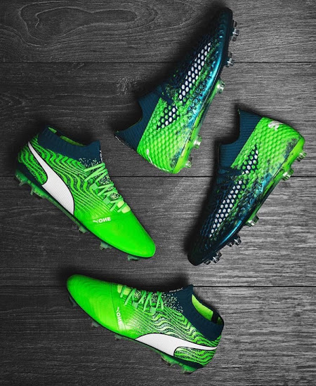66b5855fa Puma today released the third colorway of the Puma One 18.1 football boots.  The Green Puma One cleat is part of the new Puma Frenzy pack.
