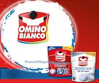 Logo Premiati con gli additivi Omino Bianco e vinci buoni Acqua&Sapone e La Saponeria da 25€