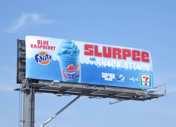Slurpee Snack Attack Shark Week billboard