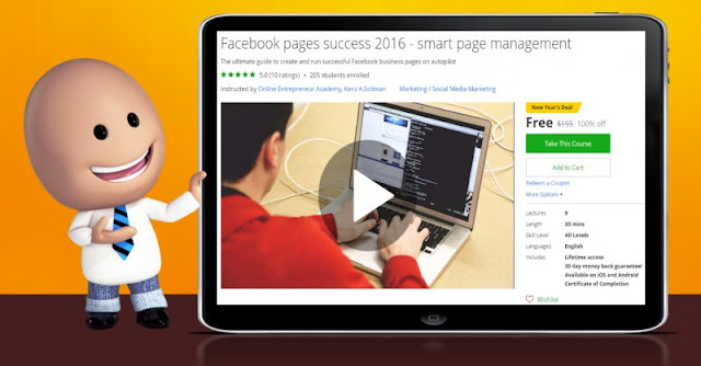 [100% Off] Facebook pages success 2016 - smart page management| Worth 195$