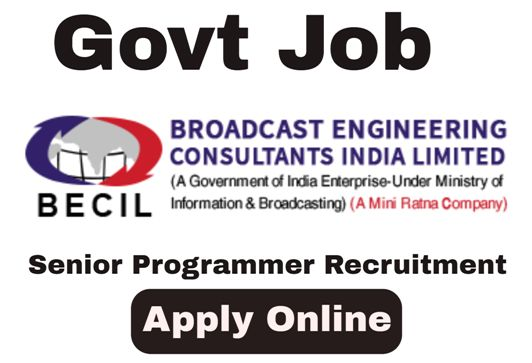 Senior Programmer Recruitment in Broadcast Engineering Consultants India Limited (BECIL).