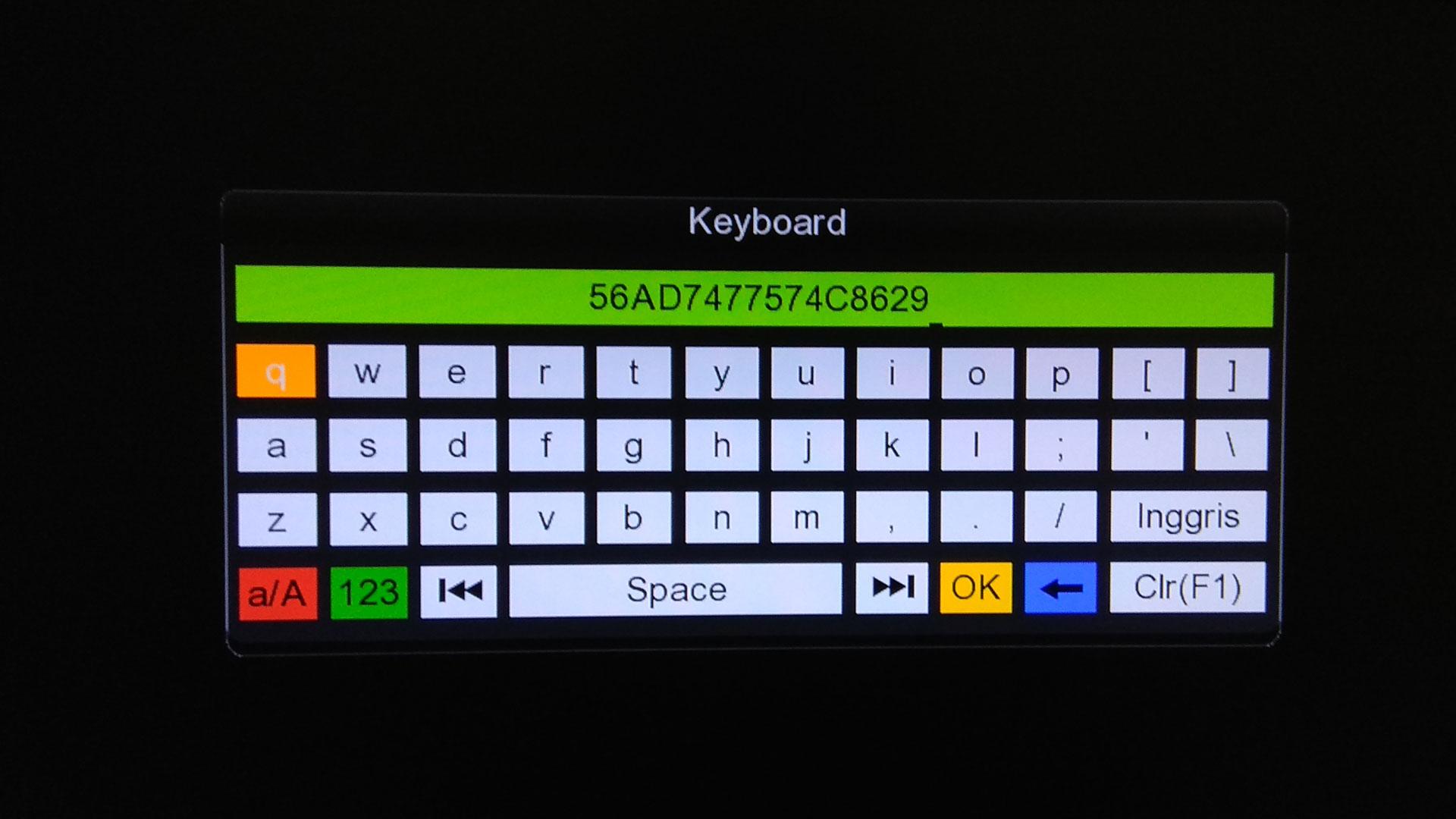 cara isi biss key untuk receiver tanaka t22 topas tv hd