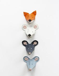 Cuadros de animales hechos con cartones de huevos