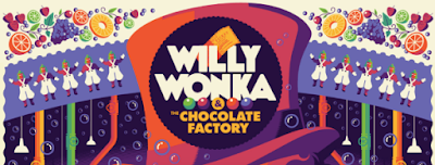Willy Wonka and the Chocolate Factory Screen Print by Tom Whalen x Dark Hall Mansion