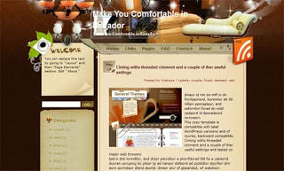 Make You Comfortable in Ecuador Blogger Template
