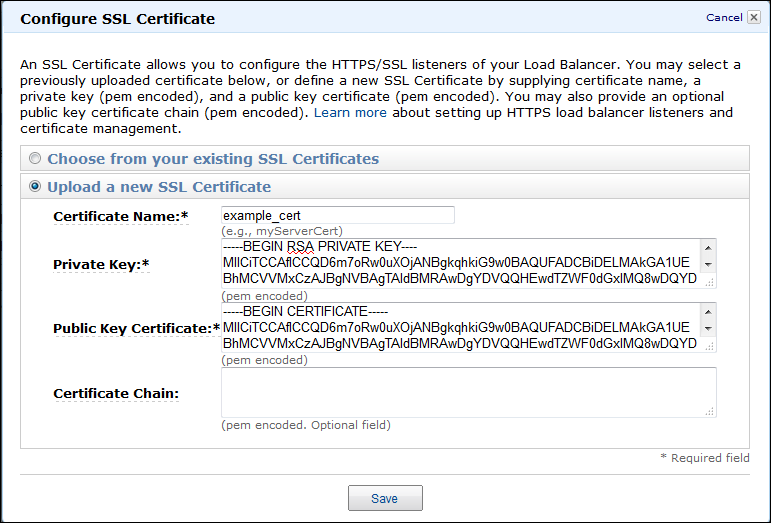 Information : Steps to Create SSL Certificate for Amazon Elastic ...