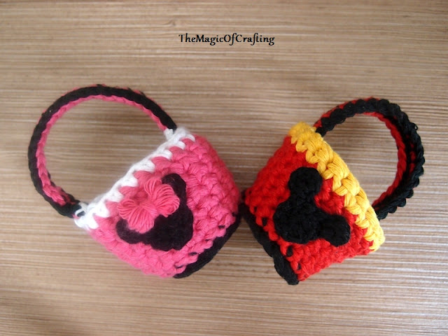 Free crochet patterns and DIY, crochet charts: Minnie and Mickey ...