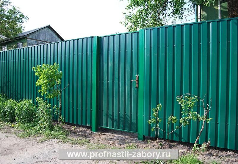 Забор из профнастила без материала