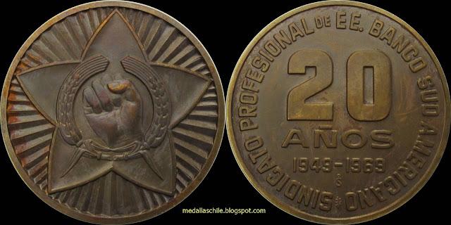 Medalla Sindicato Banco Sudamericano