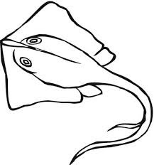 Stingrays Coloring Pages For Kids