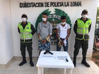 https://www.notasrosas.com/Policía Nacional captura dos hombres por homicidio, en La Loma, Cesar