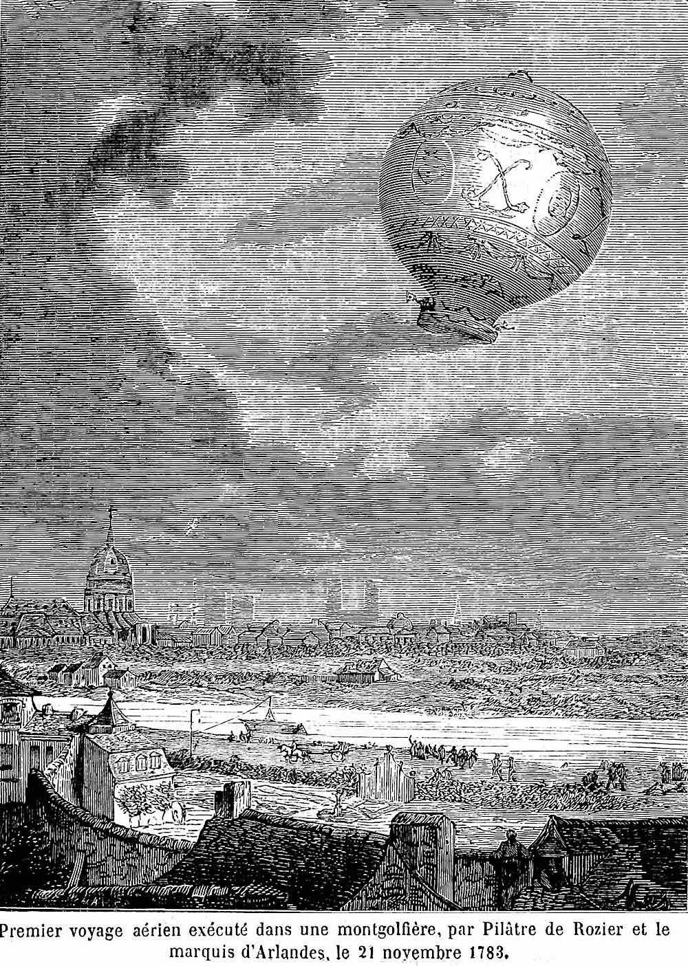 a 1783 balloon flight in France