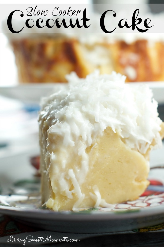 Slow Cooker Coconut Cake