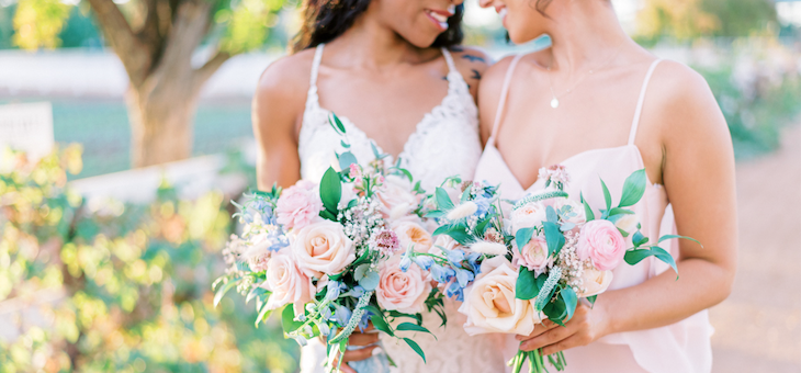 A Blush and Blue Swoonfest at Agritopia Farms in Gilbert Arizona