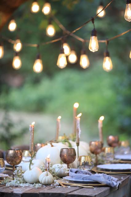 5 ideas for a simple autumn table