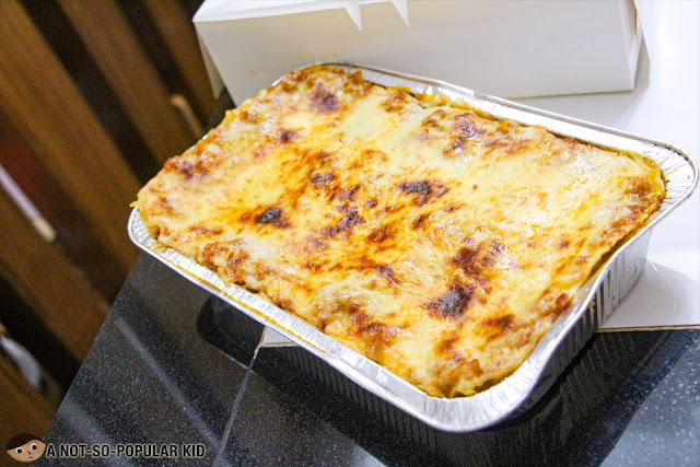 Family Size of Eats Good's Cheesy Pork Lasagna