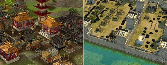 Stronghold Warlords vs Stronghold Crusader 2 Map