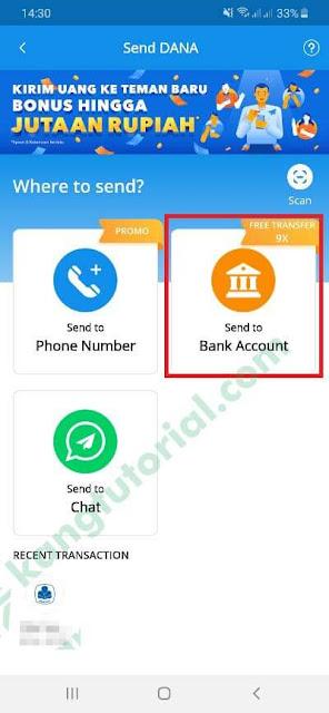 Cara Transfer Saldo DANA ke Rekening Bank Terbaru