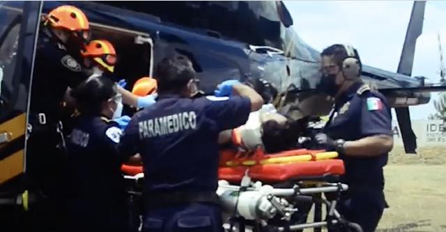 Helicóptero de SSP traslada a herido grave