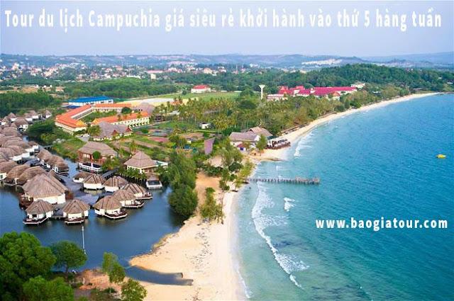 Tour du lịch Campuchia giá siêu rẻ khởi hành vào thứ 5 hàng tuần